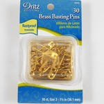 Brass Basting Pins by box (30 pins), DRI-1465Q
