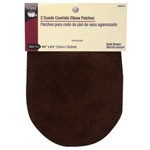 2 Dark Brown Suede Cowhide Elbow Patches by 1 set (2 pcs), DRI-55230-2