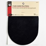 2 Navy Suede Cowhide Elbow Patches by 1 set (2 pcs), DRI-55230-3