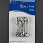 20 Safety Pins by set (20 pins), PRYM-11251