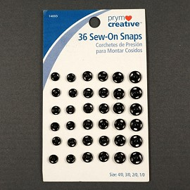 36 Sew-On Snaps by set (36 snaps), PRYM-14003