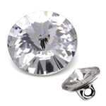 16mm Swarovski Rhinestone 1122 Round Fancy Button with Shank