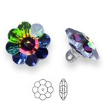 10mm Swarovski 3700 Margarita Button with Shank