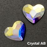 14mm Swarovski Crystal 2808 Heart Flat Back, SW-2808FB