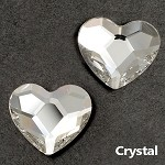 10mm Swarovski Crystal 2808 Heart Flat Back, SW-2808FB