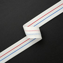 "1-1/8"" (28mm) Elastic Stretch Ribbon Band Trim by Yard, SP-2044"