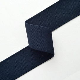 "1-7/8"" (48mm) Navy Elastic Stretch Ribbon Trim by Yard, SP-2315"