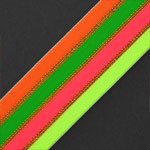 Neon Striped Elastic Stretch Ribbon Band Trim by 1-yard, TR-11364