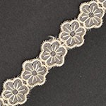 Floral Lace Trim for bridal, apparel, home decor by yard, DR-103818