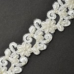 Beaded Embroidery Ribbon Lace Trim by YD, TR-10908