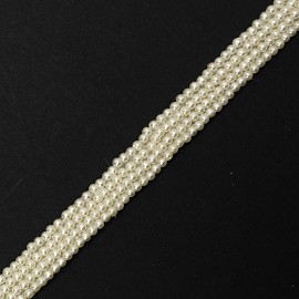 4-Row Pearl Beaded Trim by Yard, TR-11863