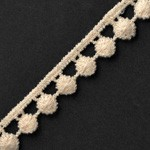 Vintage flat pom pom lace trim by Yard, TR-11250
