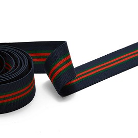 "1-1/2"" (40mm) Elastic Stretch Ribbon Trim 1 Yard for Stretch Elastic Band, headband, hand band and waist belt, TR-11590"