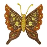 Butterfly Embroidery Iron-On Applique Patch by PC, AAA-DAR-3419
