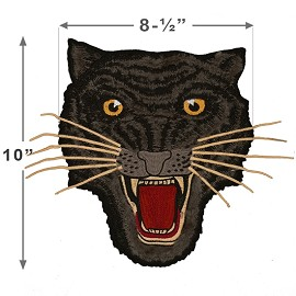 Panther Embroidered Iron-On Applique Patch by 1 PC, TR-11601