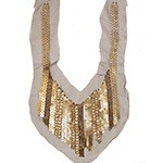 Beaded Sequin Neckline Collar Applique by PC, SP-2475