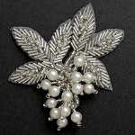 Pearl Beaded Applique, Bridal Applique by PC, FF-03