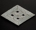 Diamond Shape Beaded Applique Patch by PC, FF-M2217