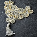 Sequin & Pearl Beaded Applique Patch by PC, FF-V221