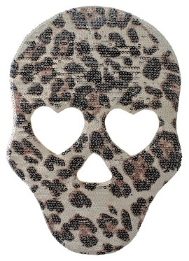 Skull Sequin Patch Applique by PC, TR-10889