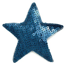 Star Sequin Iron-On Patch Applique by PC, TR-10891