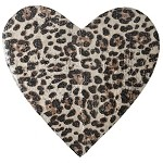 Leopard Sequin Heart Shape Patch Applique by PC, TR-10893