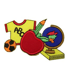 School Iron-on Applique Patch by PC, PA-IA-T02602