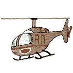Helicopter Iron-on Applique Patch by PC, PA-IA-T-02599