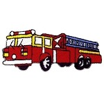 Fire Truck Iron-on Applique Patch by PC, PA-IA-T-02605