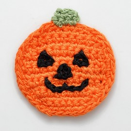 Pumpkin Crochet Applique Patch by PC, CR-DES-CPR20