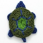 Tortoise Crochet Applique by PC, CR-DES-CTE10