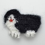 Sheep Dog Mohair Crochet Applique by PC, CR-DES-MSD32