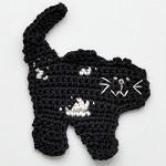 Cat Crochet Applique by PC, CR-DES-CCT36
