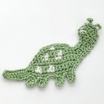 Dinosaur Crochet Applique by PC, CR-DES-CDR63