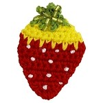 Strawberry Crochet Beaded Applique by PC, DES-CSYZB