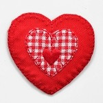 Red Heart Iron-on Patch Applique by PC, PA-IA-T03557