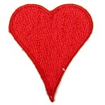 Heart Iron-on Patch Applique by PC, PA-IA-T06468