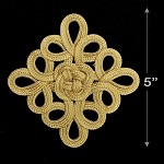 Gold Chinese knot Applique by 1 PC, TR-11772
