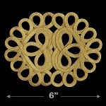 Gold Chinese Knot Applique by 1 PC, TR-11775