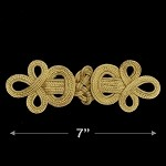 Gold Chinese Knot Applique by 1 PC, TR-11777
