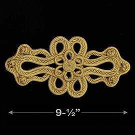 Gold Chinese Knot Applique by 1 PC, TR-11780