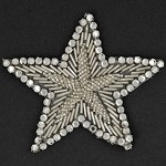 Star Rhinestone Beaded Applique, Beaded Patch by PC, FF-112-4