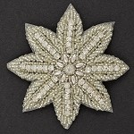 Rhinestone Beaded Applique, Beaded Patch by PC, FF-1691