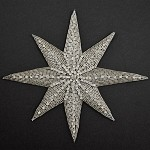 Star Rhinestone Beaded Applique, Beaded Patch by PC, FF-347