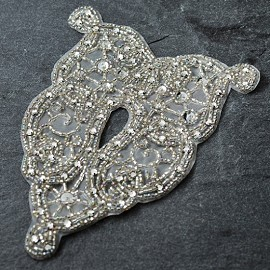 Rhinestone, Sequins & Beaded Applique Patch by PC, FF-VCO1-002