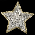 Star Rhinestone Beaded Applique Patch by PC, FF-6260B