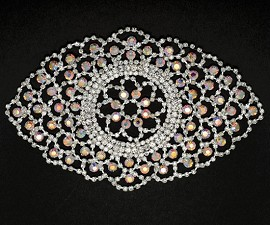 Rhinestone Applique Patch by PC, SP-2057