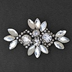Rhinestone Beaded iron-on Applique, Bridal Applique Patch by PC, TR-10947