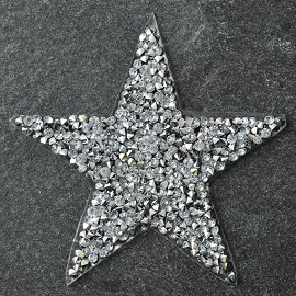 Star Shape Rhinestone iron-on Applique Patch by PC, TR-11039