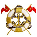 Iron-On Nautical Life ring with Flags Applique Patch by PC, PA-IA-T00275